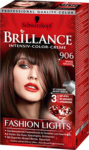 Brillance Intensiv-Color-Creme 906 Bronze Reflexion Fashion Lights Stufe 3