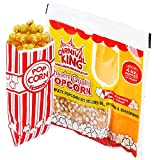 4 Ounce Popcorn Machine Popcorn Packets (24pcs) - 100 Paper Popcorn Bags and Prepackaged Popcorn...