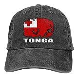 Drapeau des Tonga Joueur de Football Rugby Hommes et Femmes Casquettes de Baseball Réglables Denim Tissu Casquette Hip Hop