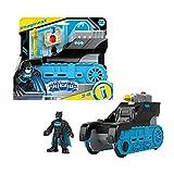 Imaginext DC Bat Tanque con Batman Coche de juguete con figura, regalo para niños +3 años (Mattel GVW26)
