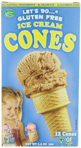Let's Do Organic Ice Cream Cones, Gluten Free, 1.2-Ounce Packages (Pack of 4)
