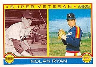 Nolan Ryan baseball card (Houston Astros New York Mets Hall of Fame) 1983 O Pee Chee #361 Super Veteran