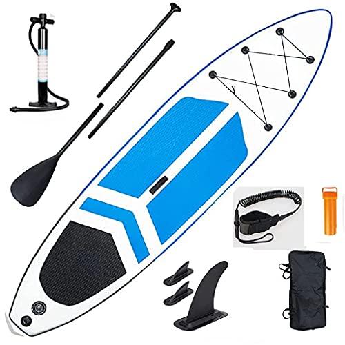 Sup Stand Up Paddle Board, Hinchable Sup Paddleboard Stand Up Paddle Board con Paleta, Bomba, Mochila de Viaje Impermeable, Correa