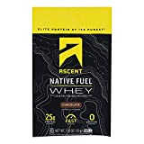 Ascent Native Fuel Chocolate Whey Protein Powder Blend Chocolate - Case of 15-1.16 OZ15