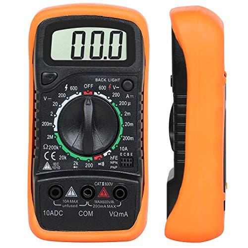 Multímetro Digital Voltímetro, Amperímetro, AC, DC, Ohmímetro 19 Rangos de...