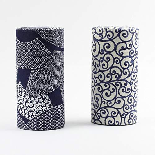 Nittoh Japanisches Teedosen Set Aizome Karakusa, 2 x 200 g Fassungsvermögen