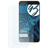 Bruni Schutzfolie kompatibel mit Coolpad Porto S Folie, glasklare Bildschirmschutzfolie (2X)