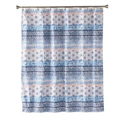 SKL Home by Saturday Knight Ltd. Balinese Fabric Shower Curtain, Blue