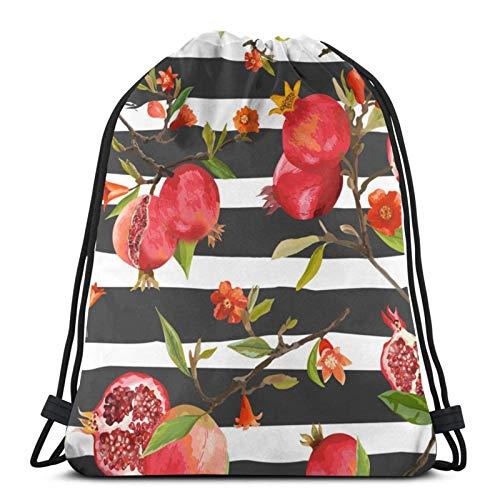 Lsjuee Tropical Rainforest GarnetDrawstring Backpack Sports Fitness Backpack Waterproof Men's and Women's Waist Bag Travel Yoga Beach School