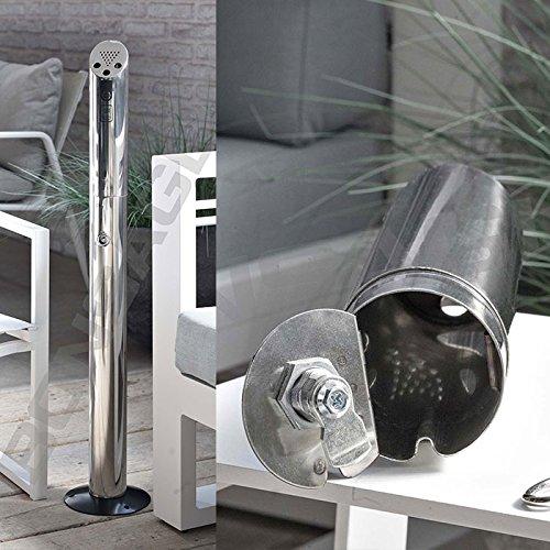 Cenicero de exterior de acero inoxidable y zinc anti corrosión (LA FACTURA DEBE SER REQUERIDA EN EL MOMENTO DE LA ORDEN - ENVÍE EL NÚMERO DE IVA)