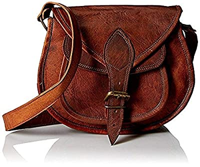11''Leather Sling Women Handbag Leather Cross body Shoulder Satchel Travel Handbag Women Bag