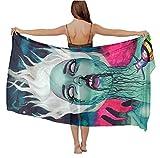 Chiffon Shawls - Galaxy Goth Gotik Gothic Women Girl Art, Vacasion Evening Party Swim Fashion Shawl Soft Cozy Infinity Scarf Long Summer Elegant Wrap Sunscreen Paisley Scarf
