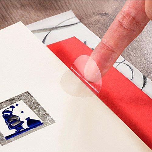 400 Verschlussetiketten Etiketten transparent Klebepunkte Verschluss Siegel 30mm