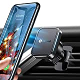 VICSEED Phone Car Holder [Upgrade Durable Clip] Magnetic Phone Car Mount [6×Strong Magnet] Air Vent Car Phone Holder Mount Compatible iPhone 11 Pro Max XS XR X SE Galaxy S20 Note 20 10 9 All Phone