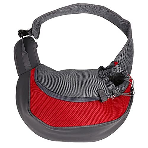 Libartly Mochila para Perros Y Mascotas Malla Transpirable para Viajes con Manos Libres Correa Acolchada Ajustable Bolsa Frontal Solo para Perros Y Gatos - Negro 37Cm