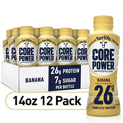 Core Power Protein Shakes (26g), Banana, Ready To Drink for Workout Recovery, 14 Fl Oz Bottles (12 Pack)