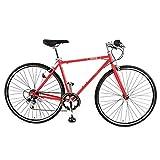 スピードワールド(SPEED WORLD)クロスバイク 700C(約27インチ) 6段変速 7色 (ファイアリーレッド)