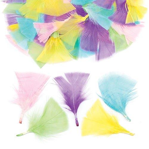 Baker Ross pauwenveren in pastelkleuren om te knutselen voor kinderen - creatief knutselmateriaal voor het versieren van hoeden en kostuums voor carnaval (120 stuks)