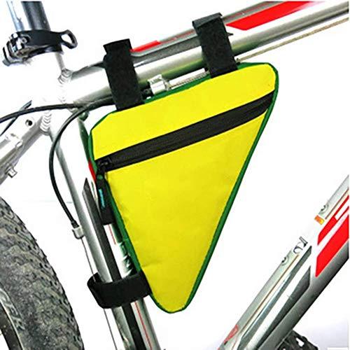 HCFSUK Bolsa de Bicicleta con Marco de Tubo Delantero para Bicicleta, Bolsa de Soporte para teléfono, Bolsas de Ciclismo Impermeables, Bolsas Triangulares, Soporte para Cuadro, Accesorios para Bici