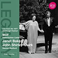 Wolf: Italienisches Liederbuch (ICA Classics: ICAC 5076) by Janet Baker (2012-12-17)