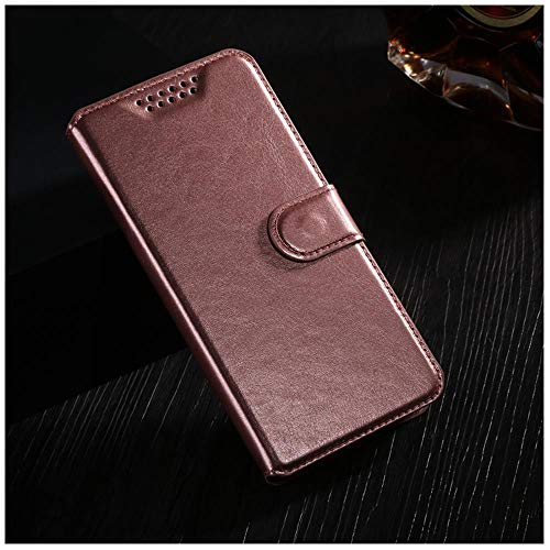 YFHBDJK Funda abatible for LG L Bello 2 II/Prime II MAX X155 X150 Bolsas de Cubierta Retro Cuero Cartera Funda Tarjeta Protectora Soporte teléfono Shell (Color : Gold)