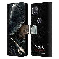 Head Case Designs オフィシャル ライセンス商品 Assassin's Creed Ezio リベレーション・キーアート Motorola Moto G 5G 専用レザーブックウォレット カバーケース