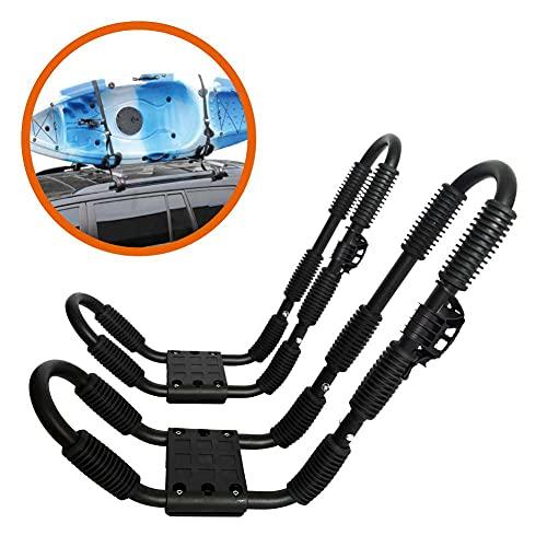 ASMSW 1 SET Kayak Roof Rack With Tie Down 2 Straps Kayak&Canoe Carrier...