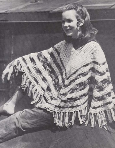 Easy 2 Color Hippie Poncho Crochet Pattern (English Edition)
