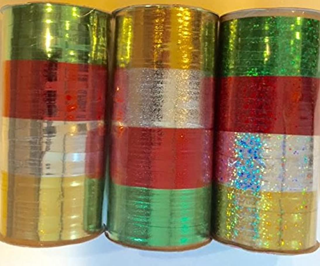 Christmas Metallic Curling Ribbon 3 PACK