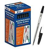 D'Art 79461 - Caja de bolígrafos, 1 mm, 50 unidades, color negro