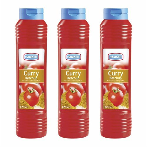 3x Hamker 'Curry Ketchup', 875 ml