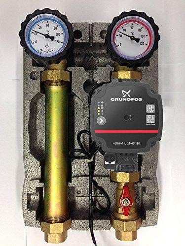 Grundfos Pumpengruppe für Heizung Umwälzpumpe 25/60 Hocheffizienzpumpe Alpha