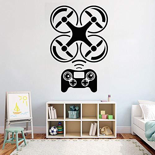 zqyjhkou Drohne wandaufkleber Flugzeug Hause wandkunst Dekoration beweglichen kinderzimmer DIY Vinyl Aufkleber Kindergarten kinderzimmer Wand dekor 103x69cm