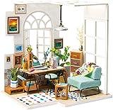 Rolife Kit de casa de muñecas miniatura DIY escala 1:24 SOHO TIME mini casa adolescentes adultos para montar