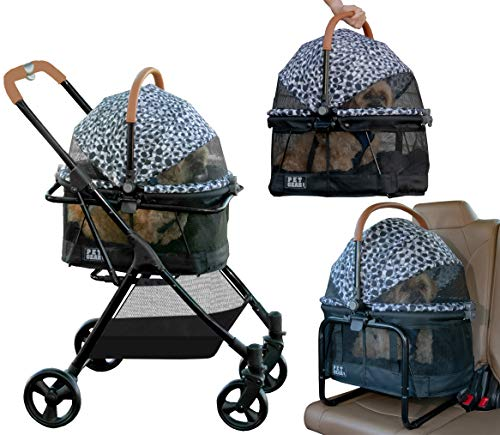 Pet Gear View 360 Pet Stroller Travel System 3-in-1 Carrier, Booster Seat and...