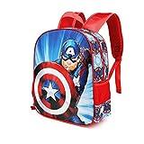 Karactermania Capitán América First - Mochila 3D (Pequeña), Multicolor