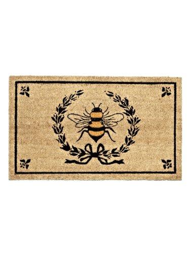 Abbott Coir Fibre Doormat, Bee in Crest, Natural Material