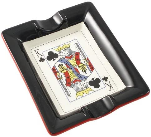 Casino Royale King Genuine Free Shipping of Clubs Award Ceramic Ash Cigar Tray