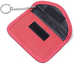Generic Anti-electromagnetic-Radiation-Signal Car Key Case Anti-Theft Car Key Bag preventing Radio Frequency Information Leakage Color Name Red