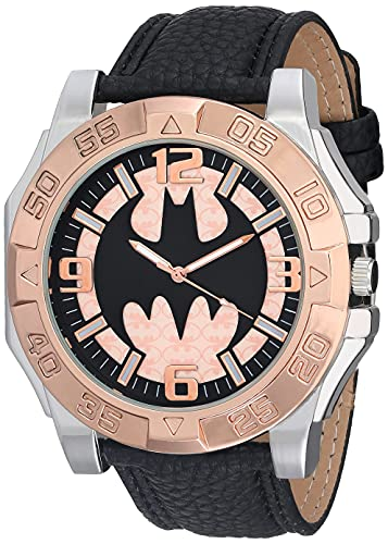 DC Comics Stainless Steel Analog-Quartz Watch with Patent...