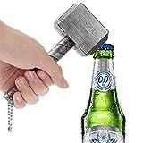Abridor de cerveza, abrebotellas Thor Martillo, abrebotellas Mjolnir, perfecto para suministros creativos de personalidad para la familia, restaurante, bar, hotel (plata)