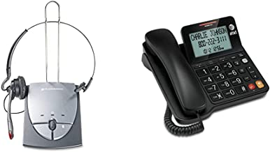 $99 » Plantronics S12 Corded Telephone Headset System 64703-03 & AT&T CL2940 Corded Phone with Caller ID/Call Waiting, Speakerph...