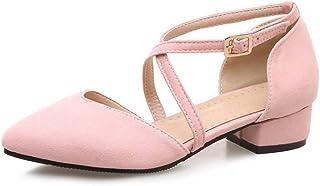 BalaMasa Womens ASL06395 Pu Block Heels