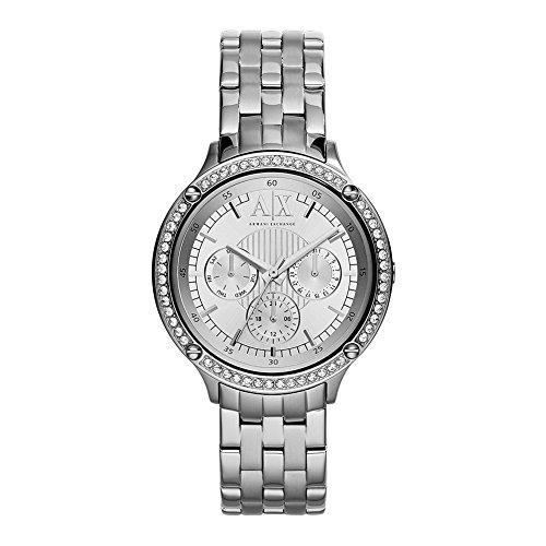 Armani Exchange AX5401 Reloj analógico de cuarzo plateado para mujer