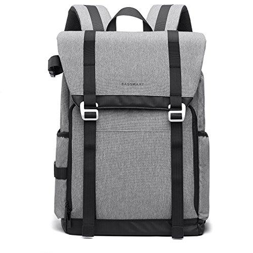 BAGSMART Kamerarucksack Laptop Rucksack 14 Zoll Regenschutz Backpack Schulrucksack Wasserabweisend für Reise Ausflug