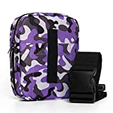 POYOLEE Waist Pack Bag for Pistols, Concealed Carry Gun Holster Pouch for Women, Tactical Belt Bag for Pistol and Accessories, Universal Gun Pouches for Mid, Compact and Sub-Compact Handguns (Purple)