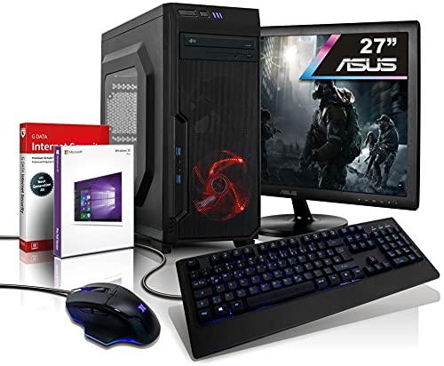 Komplett PC Ryzen 8-Thread Gaming/Multimedia Computer mit 3 Jahren Garantie!   AMD Ryzen3 4300GE, 8 Threads, 4GHz   16GB DDR4   512GB SSD   6Kern Grafik Radeon   27