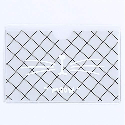 weichuang Tarjetero de tarjetas de visita de plástico translúcido, con diseño de animales, para niños, niñas, estudiantes, escuelas, autobús, tarjetas de visita (color: 1)