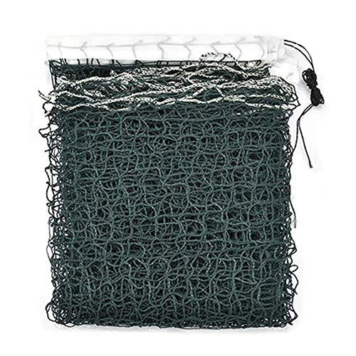 Badminton-Netz, 6 m, tragbares Badminton-Netz für drinnen und draußen, Badminton-Netz, Kinder Badminton-Netz (610 cm76 cm), Single-edged green