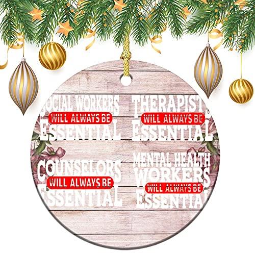 by Unbranded Adorno de cerámica para árbol de Navidad, regalo de boda, decoración para árbol de Navidad, trabajador social, salud mental, consejero, terapia, asistente social colgante recuerdo